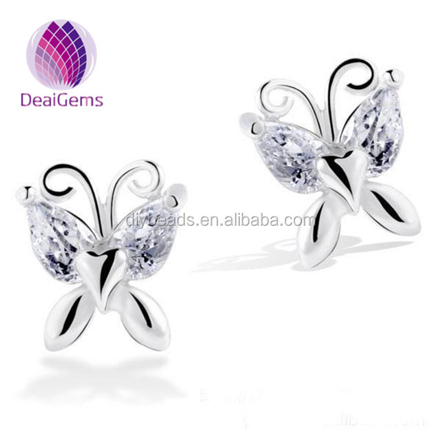 Cute butterfly women fashion earring 925 sterling silver earring