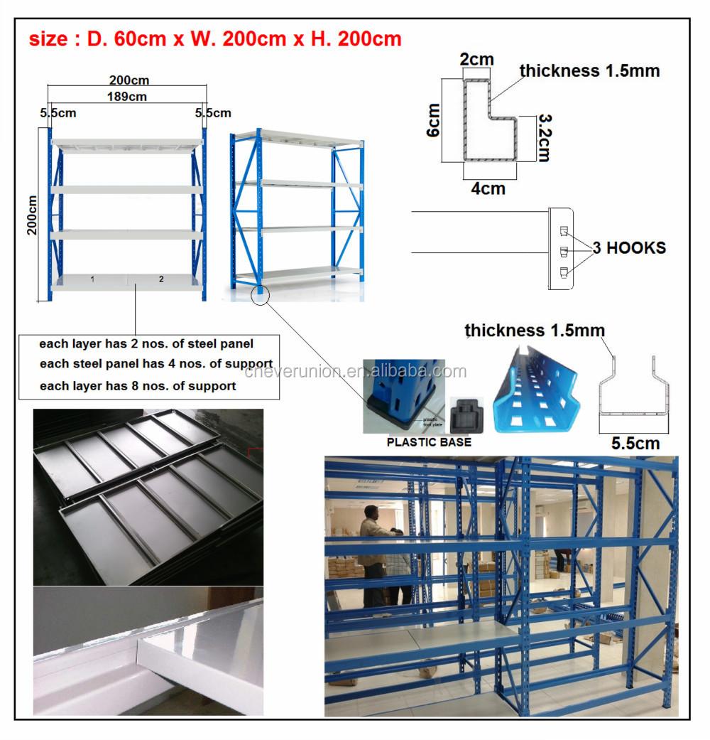 Steel Metal Mdf Storage Long Span Shelves - Buy Mdf Storage Long ...