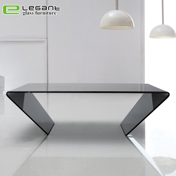 Etonnant Grey Bent Glass Coffee Table In 45 Degrees   Buy Animal Glass Coffee  Table,Brass And Glass Coffee Tables,Cheap Glass Coffee Table Product On ...