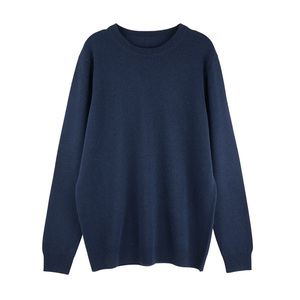 Men's round neck 100% cashmere sweater for winter