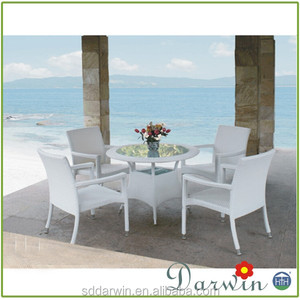 Balcony furniture set white plastic outdoor table and chair ergonomic outdoor furniture