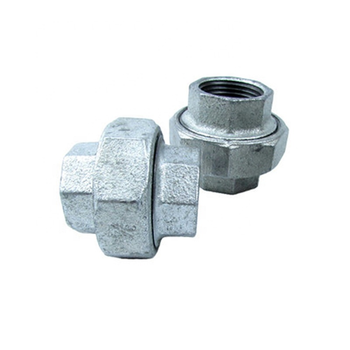 "3/8"" size female union gi pipe fittings union connector malleable iron pipe fitting flat seat joint union"