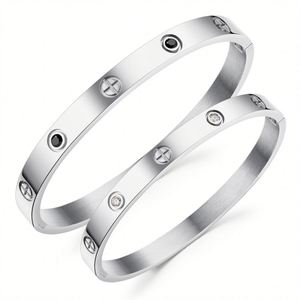 Valentine Gift Couple Jewelry Stainless Steel Men Women Love Bangle