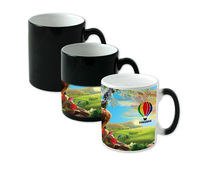 2016 New 11oz Sublimation Coated Porcelain Photo Color Changing Mug on Sale