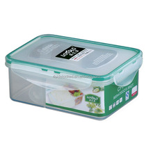 Hot sale airtight plastic two compartments food container lunch box with spoon inside