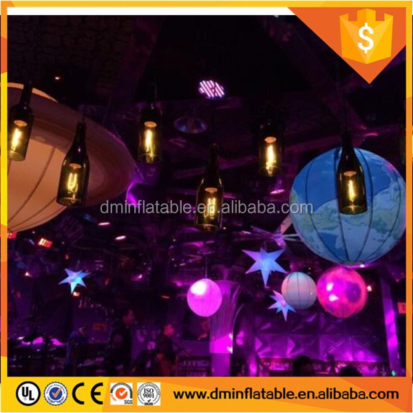Factory Price Sun, Mars, Saturn Solar System Nine Planet Balloon / Giant Inflatable Planet With LED Light