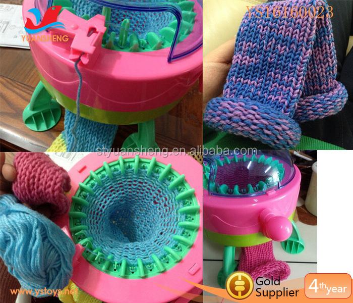 Diy Knitting Machine : Kids educational diy toys knitting machine weaving