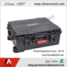 high quality waterproof shockproof plastic flight case with handle and wheel
