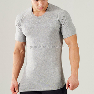 elastane t shirt athletics mens gym fitness high quality T shirt with printing logo