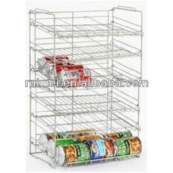 Pantry Storage Can Rack Organizer