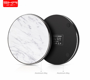 SIKAI Top quality Luxury Real Marble QI Fast Universal 10W wireless charger pad marble wireless phone charger