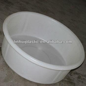 pe white plastic wash tub wash basin