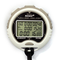 New Professional Electronic Metal Digital LCD Sports Timer Stopwatch /Chronograph watch with 100 memory