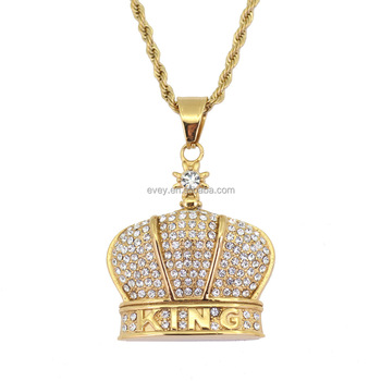 Evey Men S Saudi Gold Crown Pendant