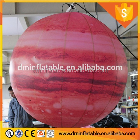 LED inflatable planets hanging decorative inflatable moon YP-186