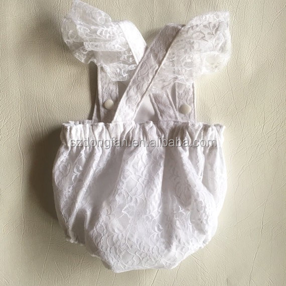 Gros Bébé Vêtements 2016 Nouveau,Né Bébé Filles Style Vintage Blanc  Dentelle Bébé Barboteuse Infantile