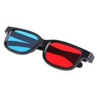0.2mm New Black Frame Universal 3D Plastic Glasses Red Blue Cyan 3D Glass Anaglyph 3D Movie Game DVD Vision/cinema