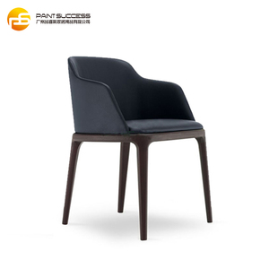 Classical Italian Design Modern Wood Grace Dining Chair with Armrest