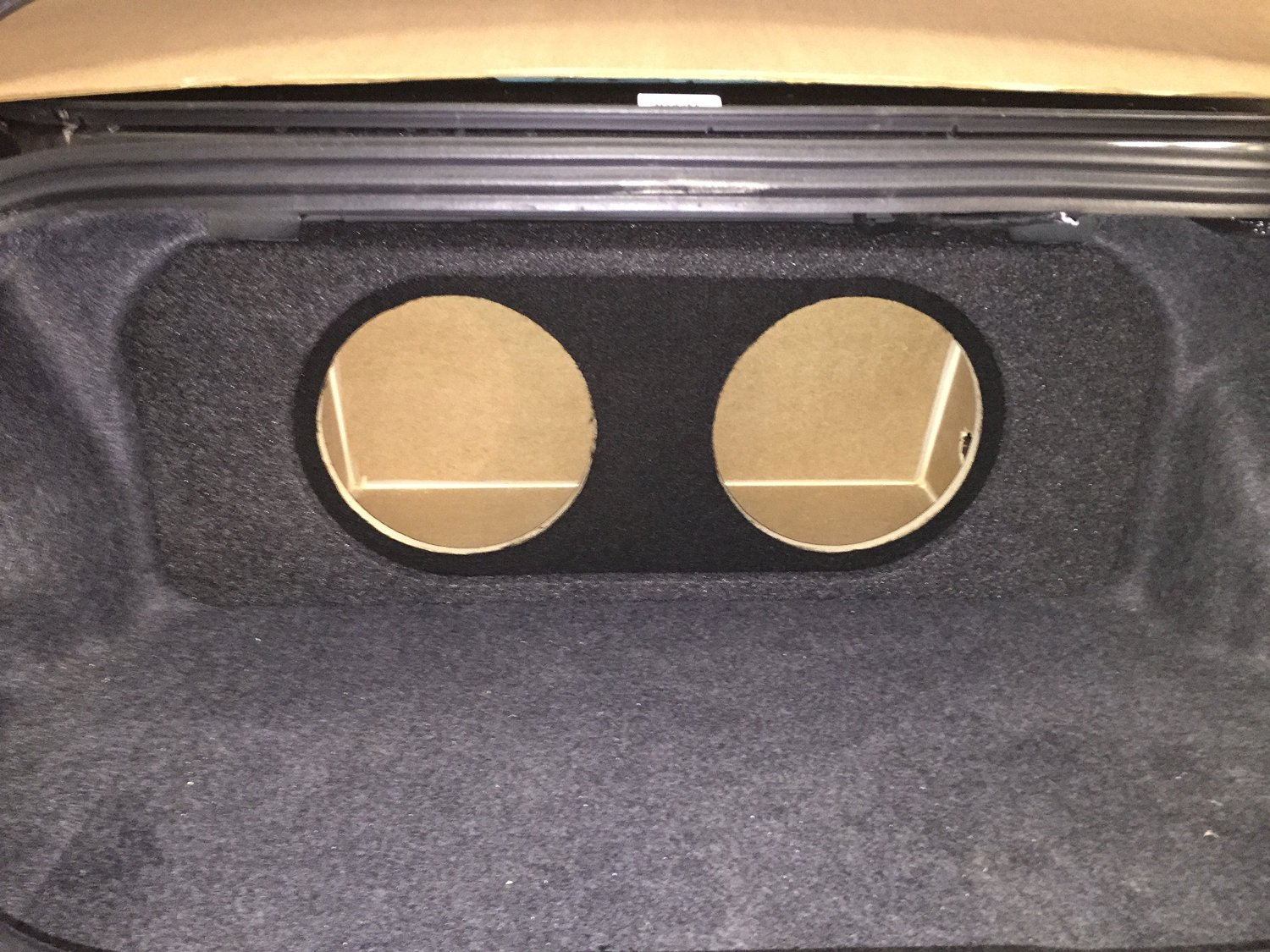 "Zenclosures 2015-2016 Mustang 2-10"" Subwoofer Box W/recessed Mounting Holes, Rear Fire - Charcoal/Black, Version 3"