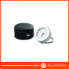 Promotion PU leather <span class=keywords><strong>CE</strong></span> travel alarm clock