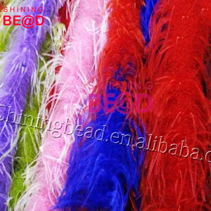 2018 alibaba hot selling dyed colors luxurious ostrich feather boa for party and event
