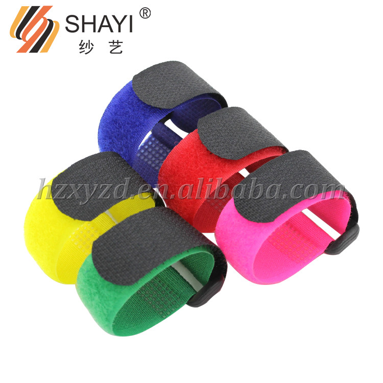 25mm*300mm Colorful Hook and Loop,Cinching Straps Cable Ties with Buckle
