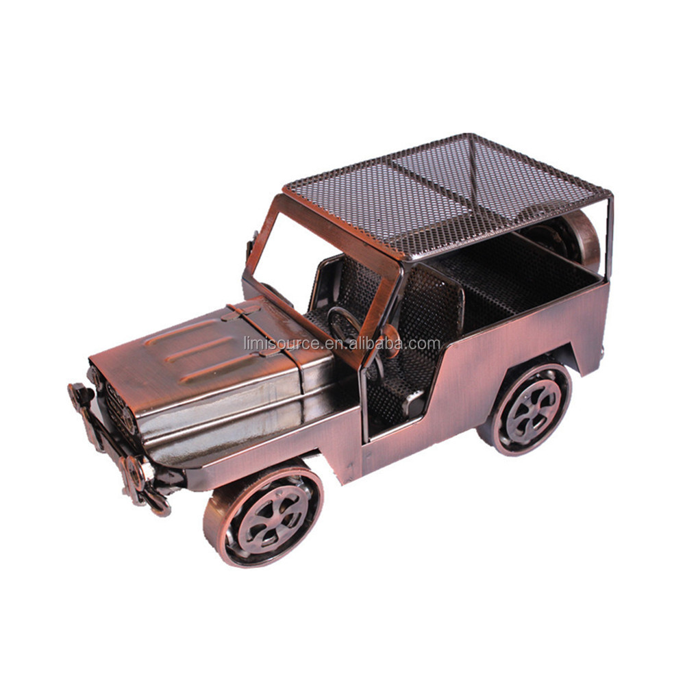 Classical Retro Metal Jeep Model Decoration <strong>Crafts</strong> for Home Office Decoration Gift,Bronze