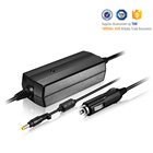 Power 65W double chipset12V~16V DC car laptop power adapter