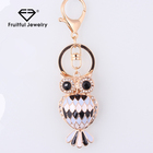 2018 High quality Owl Key chain Luxury Rhinestone Metal New York Souvenir 3d laser crystal photo key chain