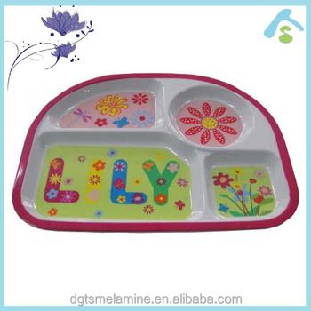 Four -section kids melamine dinner plate  sc 1 st  Alibaba & Four -section Kids Melamine Dinner Plate - Buy Melamine Kids ...