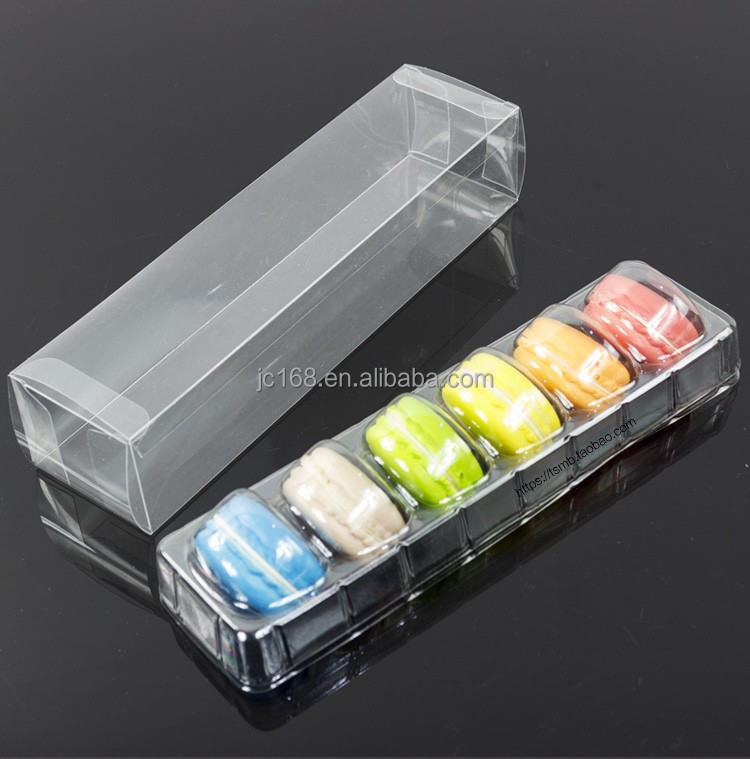 customized plastic folding Macaron cake packaging box factory