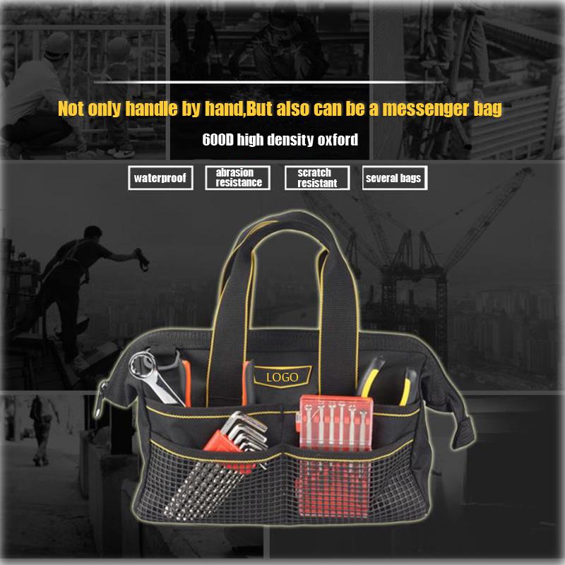 1Pc Werkzeugtasche schwarz mehrere Taschen Hardware Tasche Verdickung Design