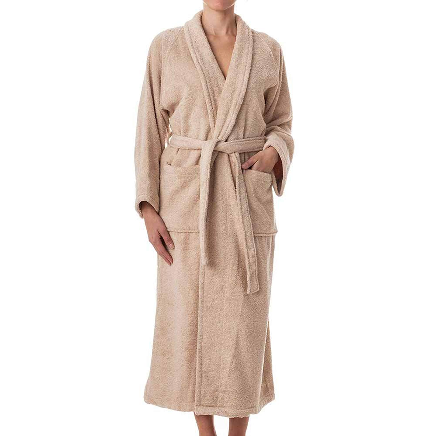 3b12fab0bb Get Quotations · eLuxurySupply Robes for Women - 100% Long Staple Cotton  Hotel Spa Plush Robes -