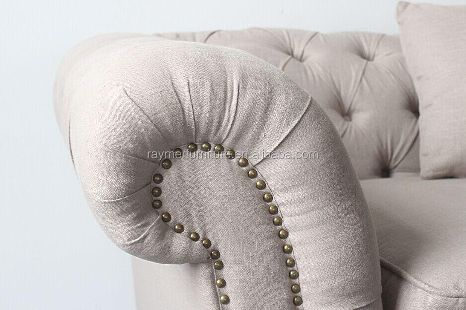Upholstered Fabric Sofa Set Chesterfield Sofa Fabric