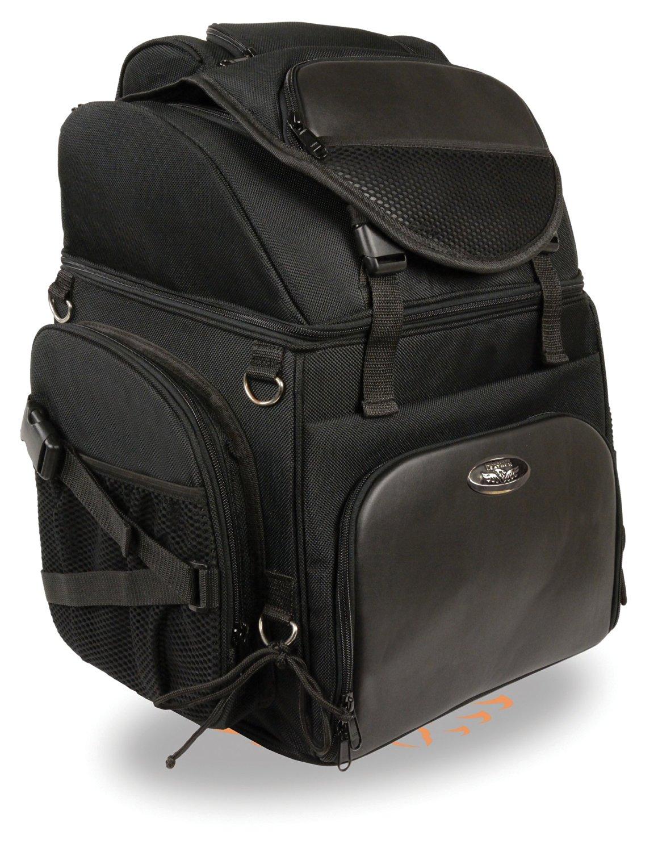 Get Quotations · Large 1200D Black Nylon Motorcycle Sissy Bar Weekender  Travel Bag