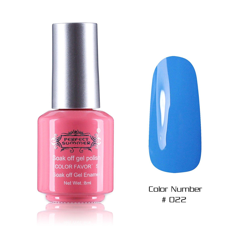 Perfect Summer New Best 8ml Gel Nails Polish Salon Artistic Painting Arts Nails Lacquers Varnish UV Led Light Soak Off Creative Perfect Match Nail Decorations #22 sky blue