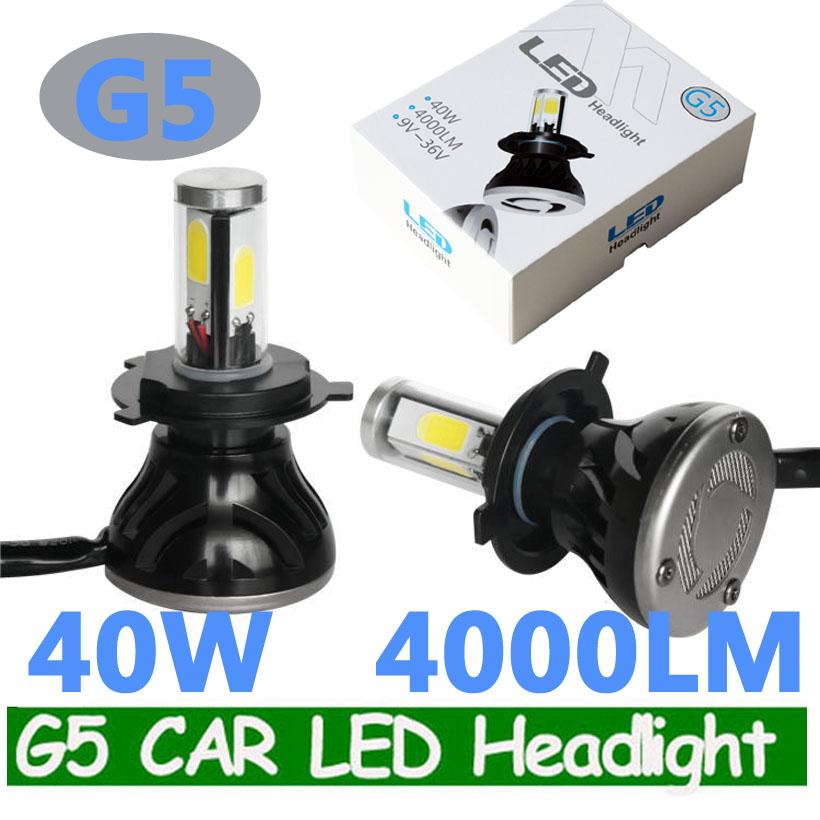 Wholesale H4 80W G5 CAR LED HEADLIGHT BULB H4 H13 9004 9007 H7 CAR ...
