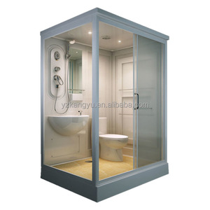 all in one complete prefabricated fabricated modular acrylic PMMA unit Bathroom pod