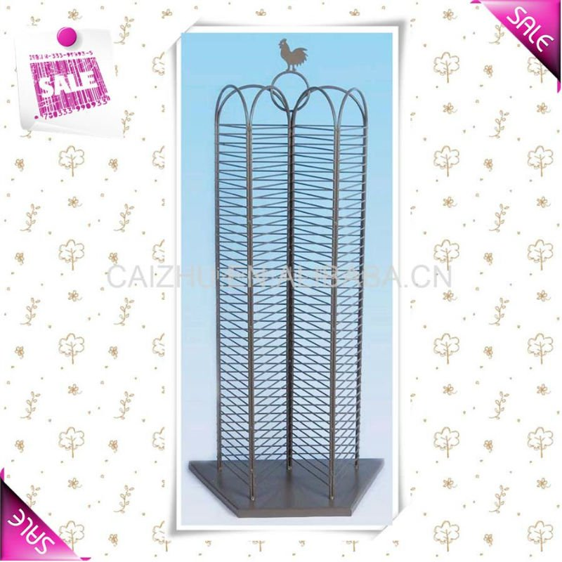 2016 Hot sale DVD CD rack iron wire display rack from china