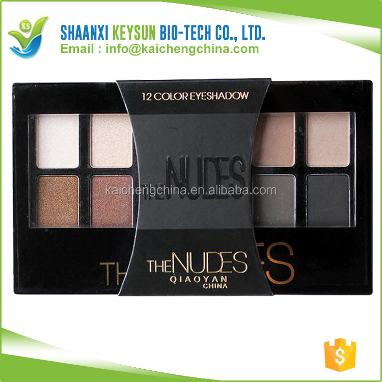 2017 Wholesale Colourful best 12 colours makeup no logo eyeshadow palette