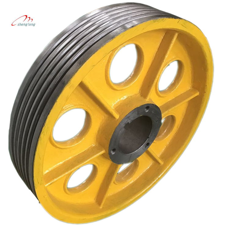 OT1S traction elevator friction wheel,High-speed T supporting host ,elevator lift parts