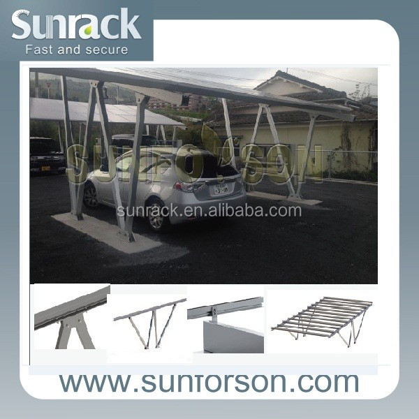 Aluminum Solar Power Mounting Support Structure for Carport