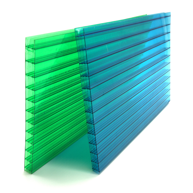 Stronger impact resistance four wall polycarbonate sheet for garage roofing