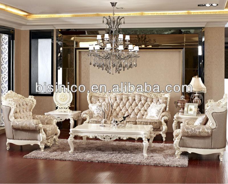Vintage White Royal Living Room Furniture French Style Sofa Set ...