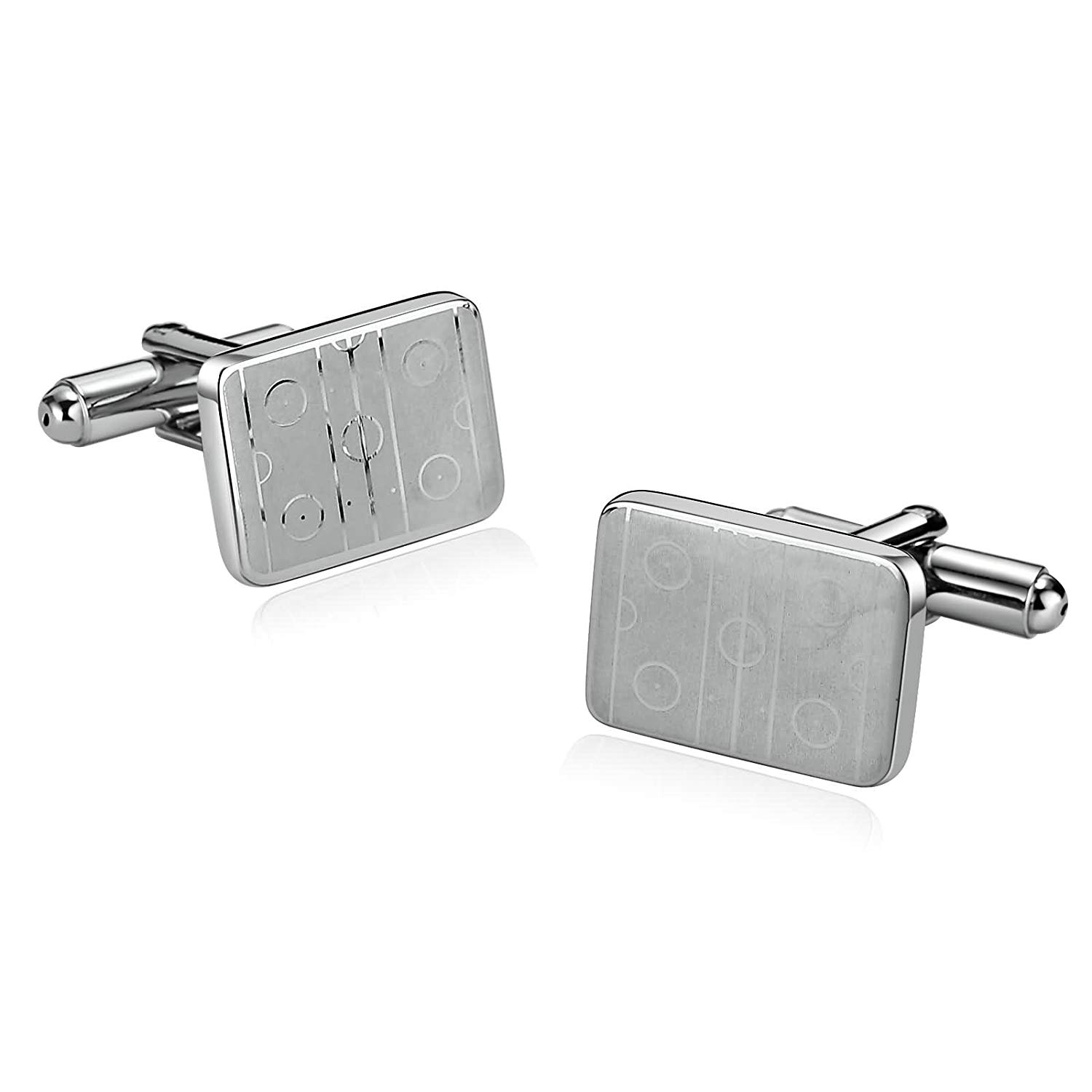 5 Styles Mens Stainless Steel Cufflinks 2Pcs, Novelty Cufflinks, Dad Unique Jewelry Box Charm Aooaz Mh97