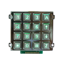 16 key keypad metal dome membrane switch trade assurance custom 4 embossing metal domes graphic overlay keypad
