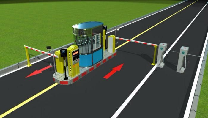 Durable Toll Gate System Rfid Card Passing Speed Boom Gate