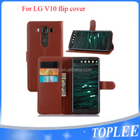 New Luxury Flip Cover Stand Wallet PU Leather Case For LG V10 Mobile Phones