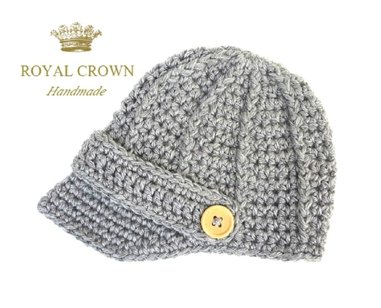 e3320f46638 Get Quotations · Newsboy Hat Newborn Hat Newborn Hat Boy Crochet Newborn Hat  Newborn Knit Hat Newborn Props Boy