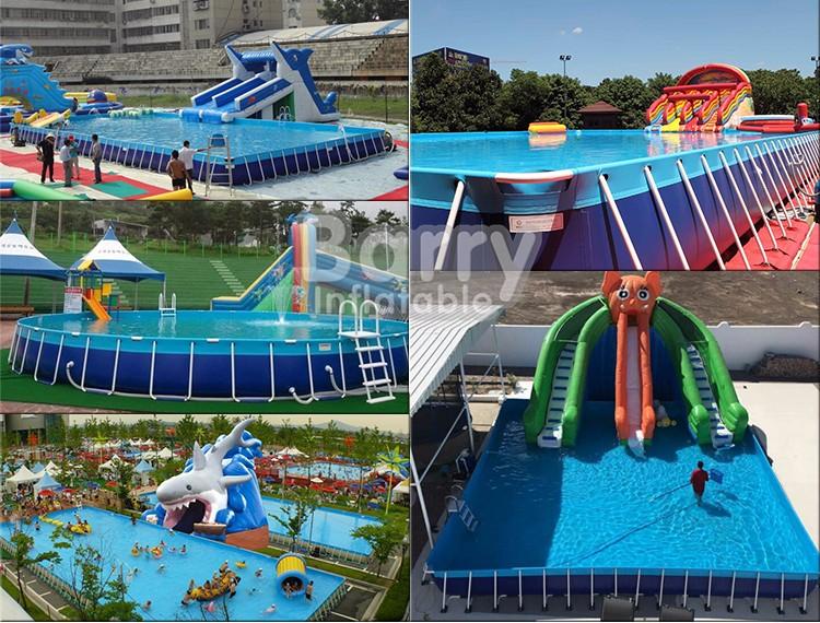 Portable Pvc Inflatable Rectangular Metal Frame Swimming Pool Buy Swimming Pool Pvc Swimming